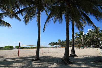 Volley Ball is popular on the beaches of South Florida in the winter. These will be crowded by mid to late morning.