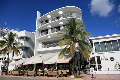 Street Café breakfast at Medi, Ocean Drive, South Beach, Florida.