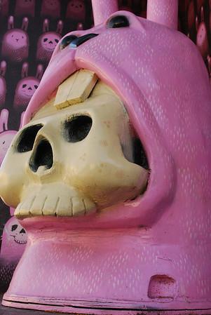 Bunny Skeleton at Haight and Buchanan