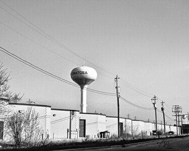 _0 Water Tower BW16x20