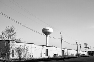 _0 Water Tower BW