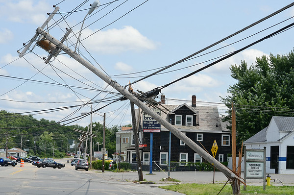Telephone poll came down on Summer Street