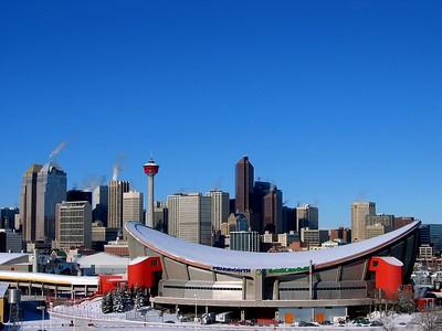 Calgary Alberta Canada photo taken from Scotsman's Hill