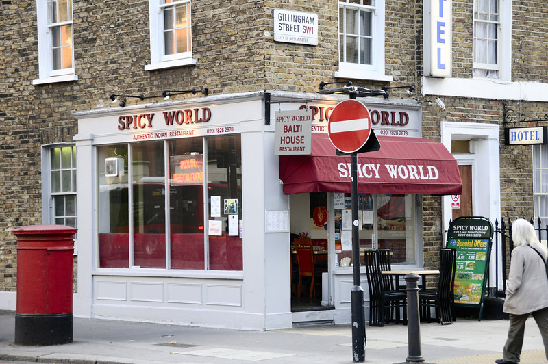 Spicy World Indian Restaurant, 1 Gillingham Street