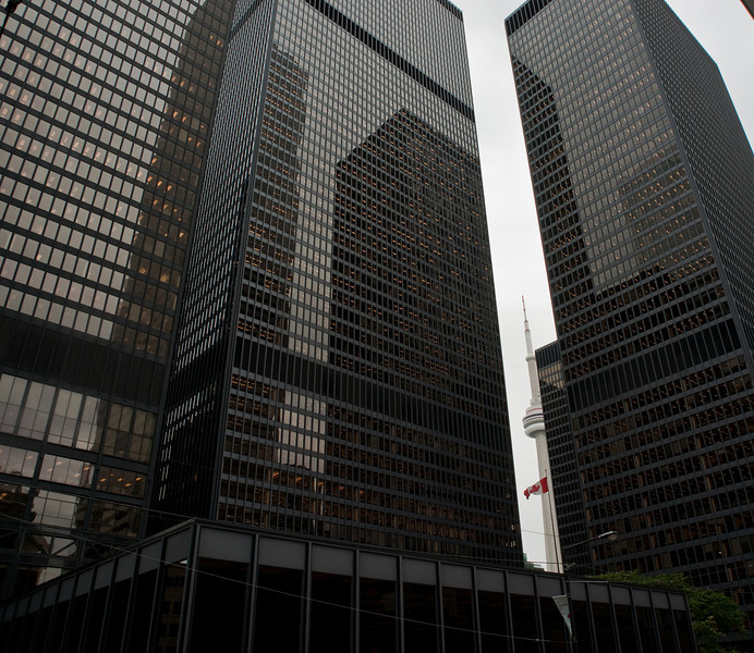 The Toronto Dominion tower complex was one of the last buildings designed by famous German modernist, Ludwig Mies van der Rohe.