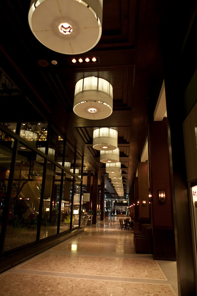 Inside the posh-looking lobby of the Sheraton Centre Hotel.