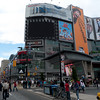 """We wanna be Times Square"" -- Dundas Square, outside the Toronto Eaton Centre."