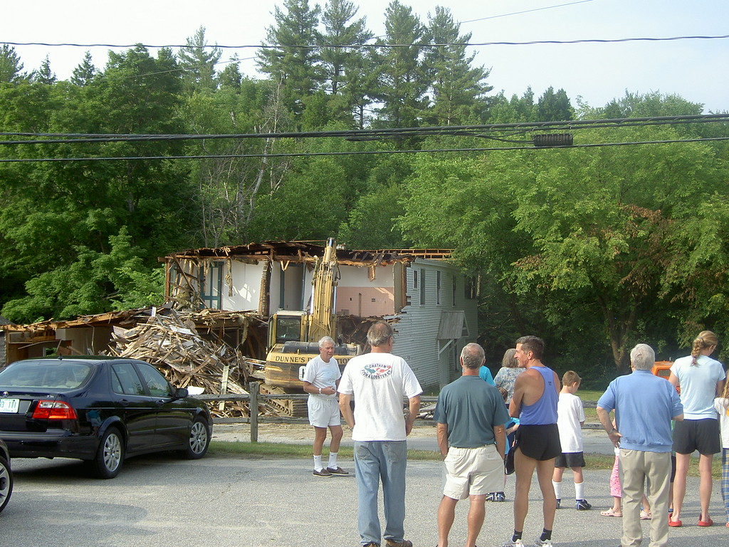 A crowd gathered for the demolition on 6/24/10