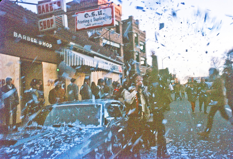 "In retrospect, the amount of plywood facing on the High Street storefronts suggest a social transition that I do not remember occurring here for another two years, but ""student unrest"" at OSU was a headline photo op before I graduated from high school in 1962"