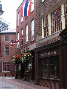 """Green Dragon Tavern. The """"headquarters of the revolution"""" although this is not the original tavern or building that was used as a headquarters for planning and executing several acts of the Revolutionary War. I guess it's a tribute to the original bar owned by the Freemasons and used by The Sons of Liberty, the Boston Committee of Correspondence, and the North End Caucus."""
