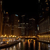 The Chicago river by Michigan and Wacker