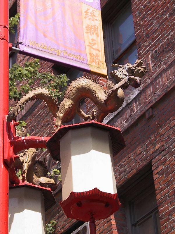 Dragon closeup.