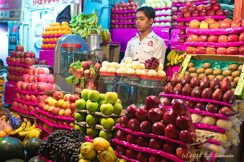 Fruit vendor in Varanasi, India