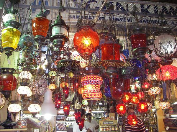 Hanging lights, Istanbul, Turkey