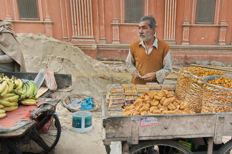 Street vendor in Jaipur, India