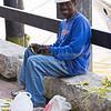 Crafting palm crosses for Palm Sunday, Savannah, Georgia