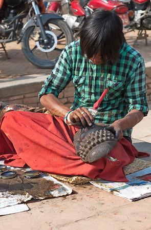 Crafts vendor, Nepal