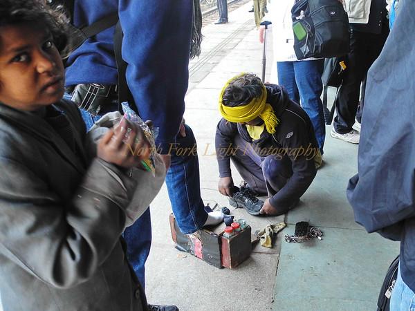 Mobile shoe repair.