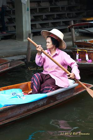 Damnoen Saduak Floating Market near Bangkok, Thailand