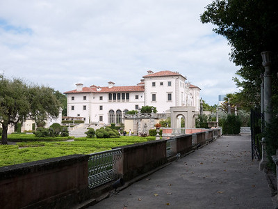 Vizcaya residence and the and the attached gardens.