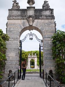 A facility archway at Vizcaya.
