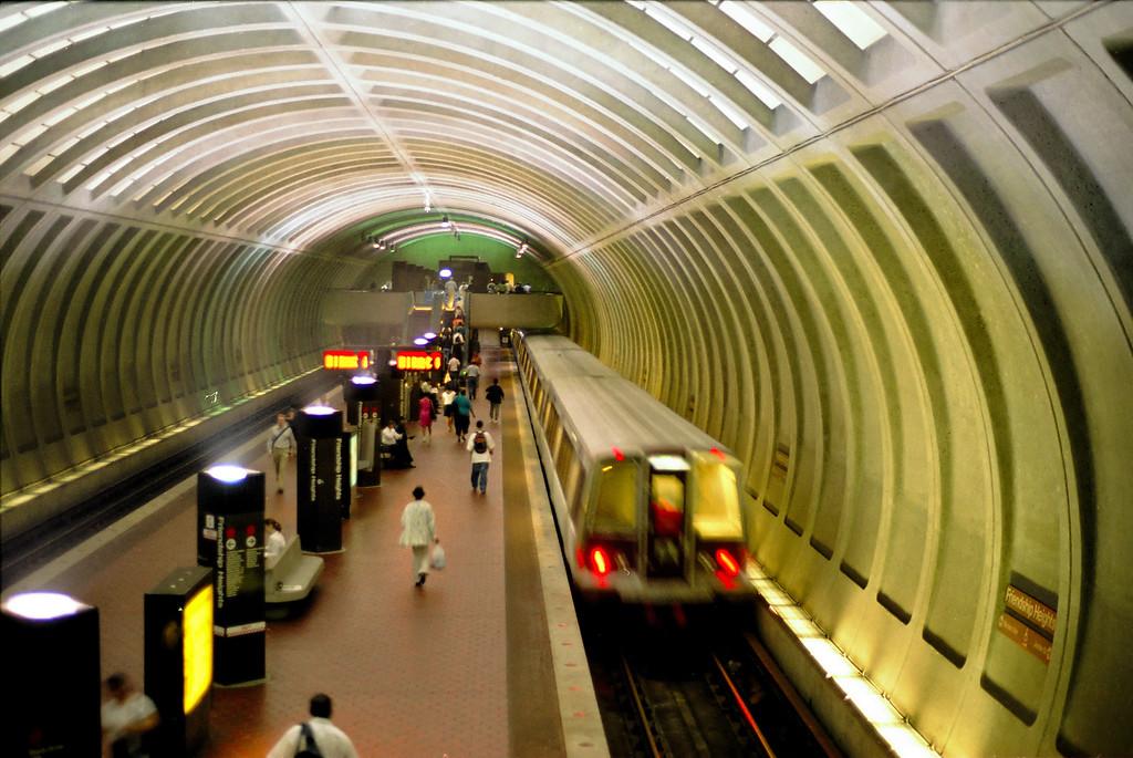 Friendship Heights metro stop in Washington, DC.