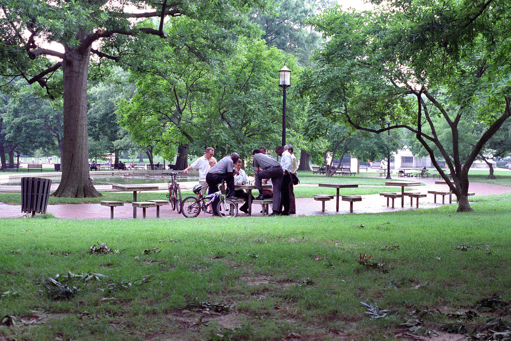 Chess game in Lafayette Park/Square (Washington, DC)