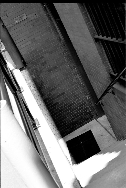 A stairwell in that alley-way