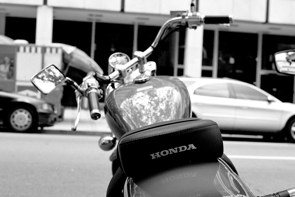 Some of the nicest motorcycles are found in DC's Golden Triangle (Honda Rebel)