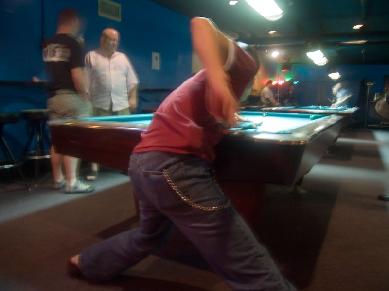 "jason's famous pool stance, atomic billiards, cleveland park - this photo appeared in the <a href=""http://www.washingtonpost.com/wp-dyn/content/article/2005/12/20/AR2005122001088.html"">Blog City</a> feature of the Washington Post Sunday magazine on December 25th 2005."
