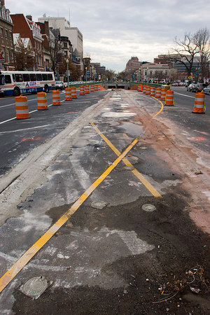 the seemingly never-ending reconstruction of the dupont circle underpass.