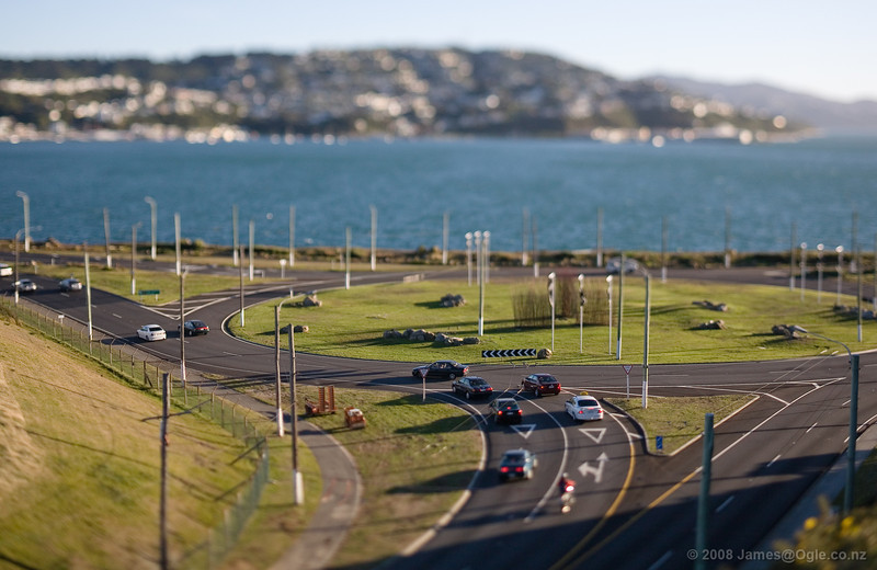 Teeny tiny little cars. - Taken with a Canon 45mm tilt/shift