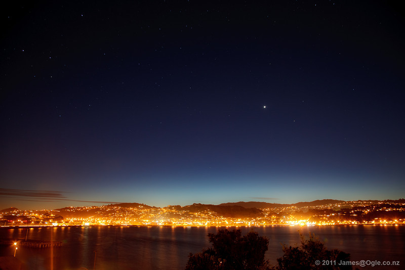 Venus over Evans Bay