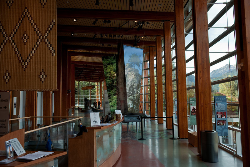 Inside the new Squamish Lil'Wat Cultural Centre in Whistler.