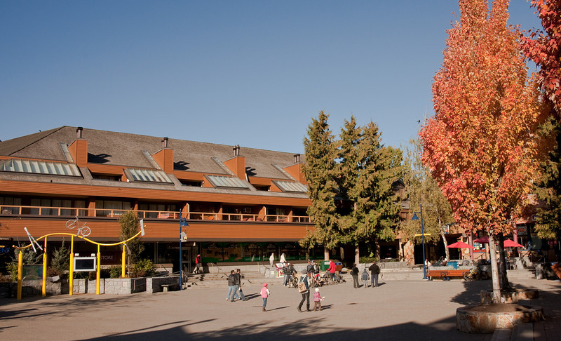 The village square, rather empty in the fall.