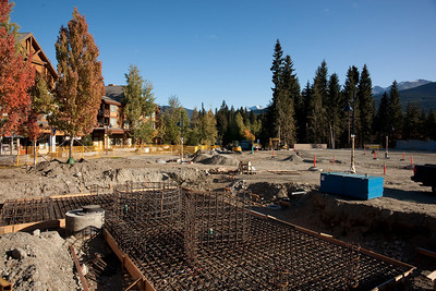 "The ""Olympic Celebration Plaza,"" still under construction in October 2009."