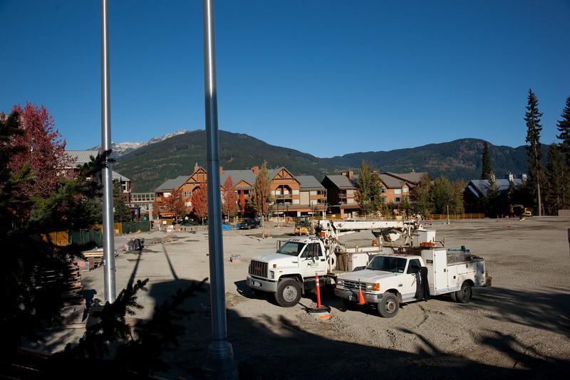 "The ""Olympic Celebration Plaza,"" still under construction in October 2009."