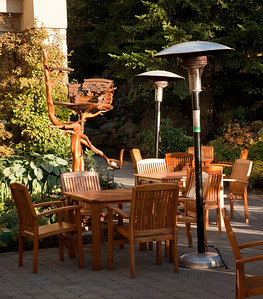 Patio at the Fairmont Chateau Whistler.