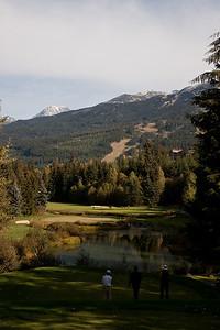 Golfing at Whistler.
