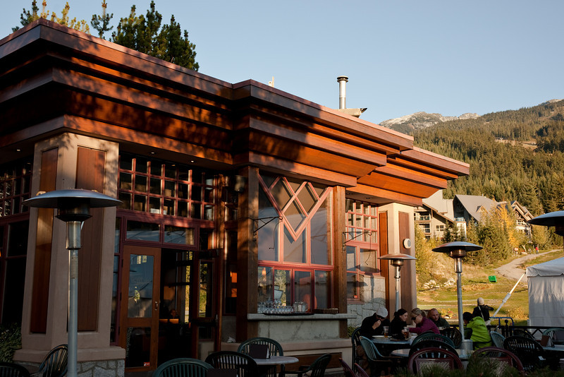 Monk's Grill, at the base of Blackcomb. I really liked this restaurant for its Frank Lloyd Wright-style architecture.
