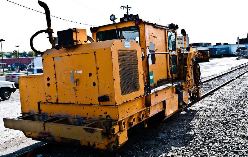 CSX rail maintenance machine
