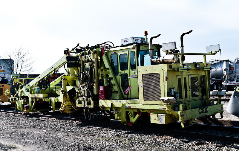 One of two versions of a rail maintenance machine