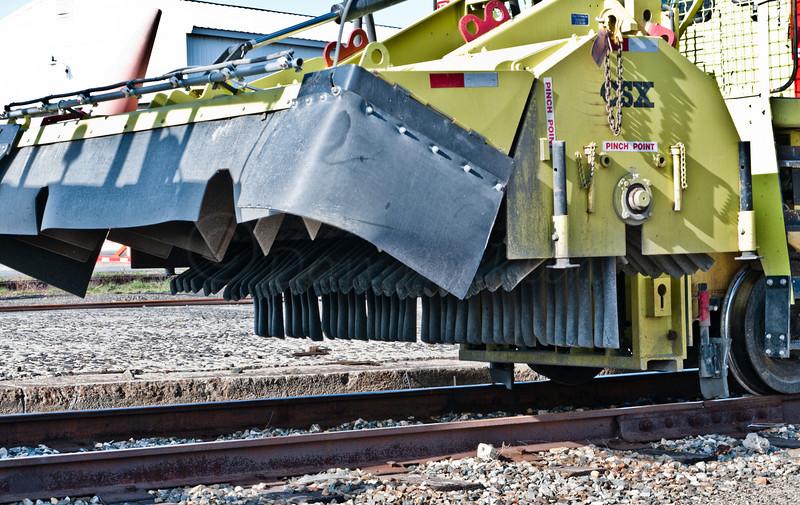 Detail of rail cleaner.