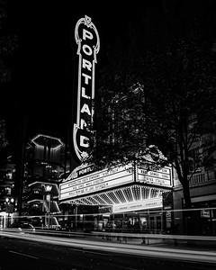 Portland!  (black and white)