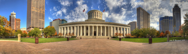 Ohio State Capitol Building, Columbus OH. Panorama, HDR.