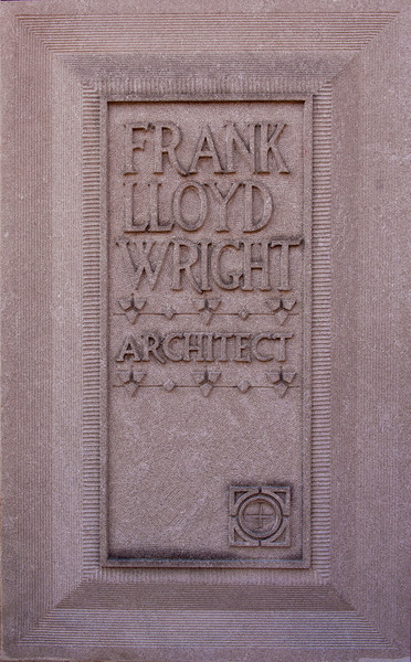 Plaque  at FLW's House and Studio