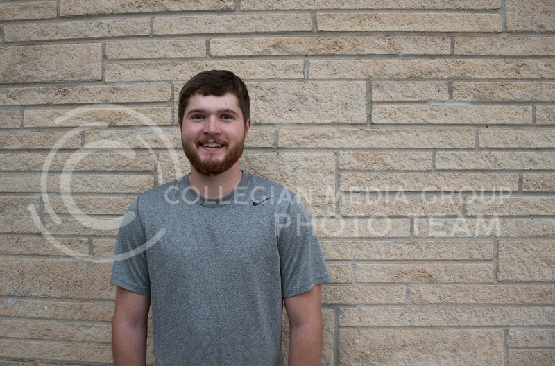 "Derek Dahl, a Senior studying Agricultural Business at Kansas State states that his favorite thing about fall is the weather, and hunting season begins. He told me he is a ""big time hunter"" and so it is his favorite thing about fall. Kansas State University, Manhattan, KS, on Oct. 13, 2017. (Olivia Bergmeier 