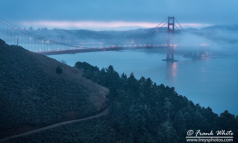 Foggy Sunrise over the Golden Gate