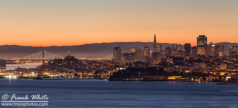 Sunrise over SF from Sausalito