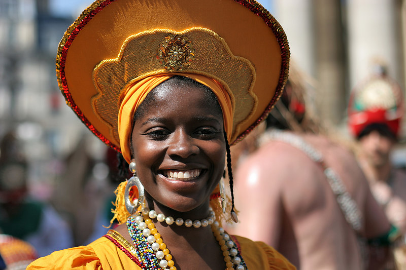 Bahian character at the Brazilian festival, Paris, France.